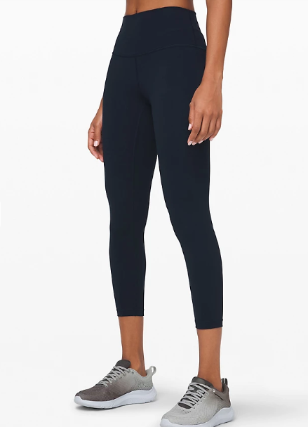 """Wunder Under High-Rise Tight 25"""" Full-On Luxtreme in true navy"""