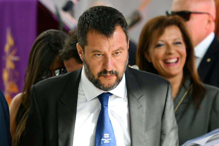 Italy's Interior Minister Matteo Salvini is trying to bring down the coalition government (AFP Photo/Alberto PIZZOLI)