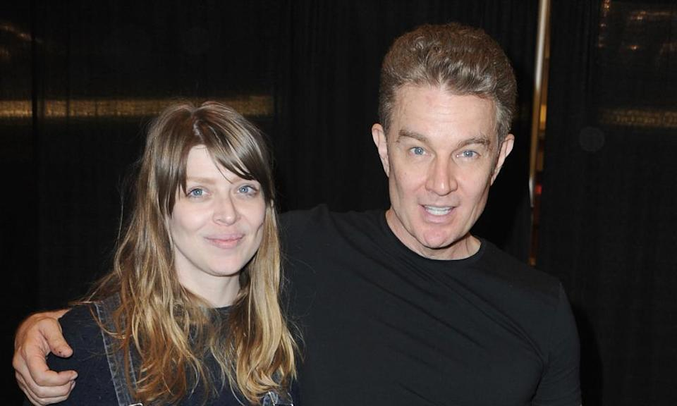 James Marsters with his arm around Amber Benson