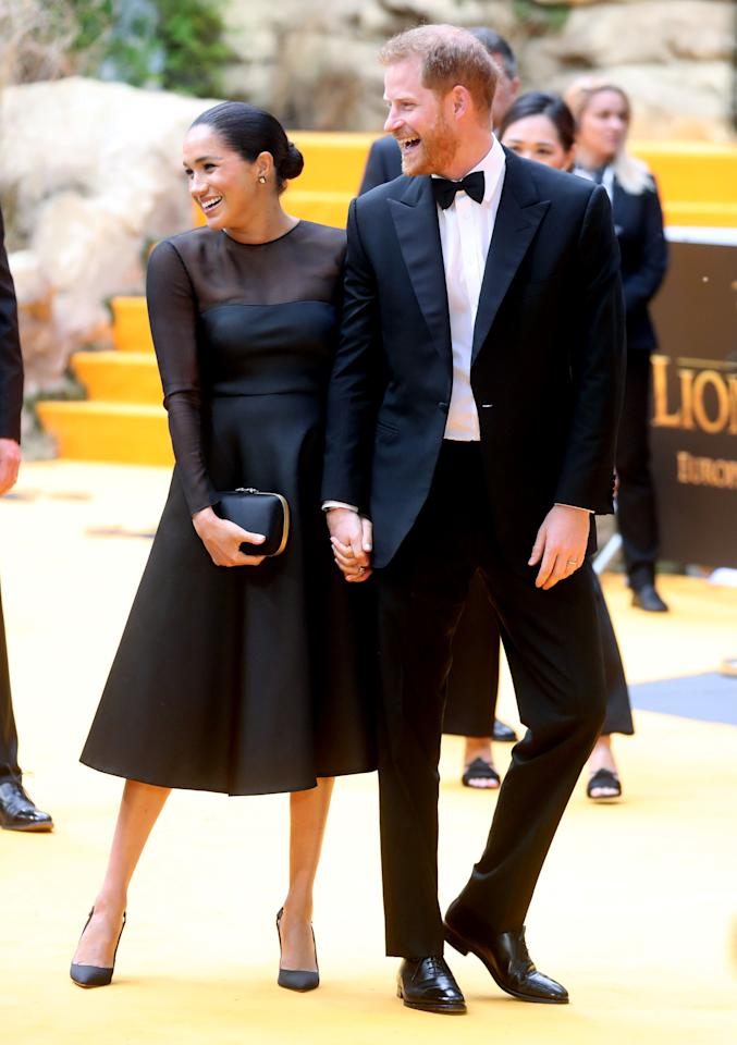 "<p>Meghan Markle may have left her Hollywood life behind her when she married Prince Harry, but that doesn't mean she can't still mingle with celebrities. Today, the Sussexes are both attending <a href=""https://www.townandcountrymag.com/society/tradition/a28244667/prince-harry-beyonce-lion-king-european-premiere/"" target=""_blank"">the European premiere of </a><em><a href=""https://www.townandcountrymag.com/society/tradition/a28244667/prince-harry-beyonce-lion-king-european-premiere/"" target=""_blank"">The Lion King</a></em>. While Meghan is <a href=""https://www.townandcountrymag.com/society/tradition/a27284026/meghan-markle-prince-harry-maternity-leave-paternity-leave/"" target=""_blank"">technically still on maternity leave</a> following the birth of her first son Archie, she is taking a break to walk the red carpet tonight, in support of conservation efforts in Africa. Disney has recently launched a campaign in tandem with the new film called #ProtectThePride, which aims to support struggling lion populations.</p><p>Many stars from the film, including Beyoncé, are expected to be at tonight's event. Read on to see all the best photos of royalty, both the British and the American kind.</p>"