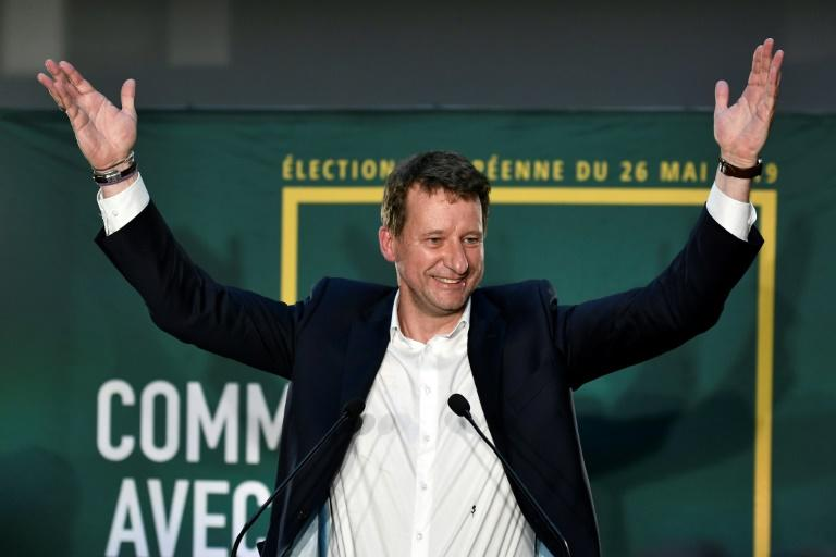 Head candidate of the Europe Ecologie Les Verts (EELV) in France Yannick Jadot hailed a 'green wave'