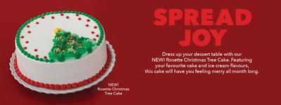 New this December, Baskin-Robbins launches a Rosette Christmas Tree Cake. (CNW Group/Baskin Robbins)