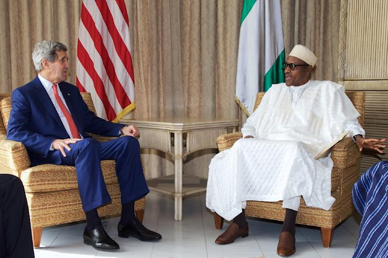 John Kerry meets Muhammadu Buhari, at the US Consulate in Lagos on January 25, 2015