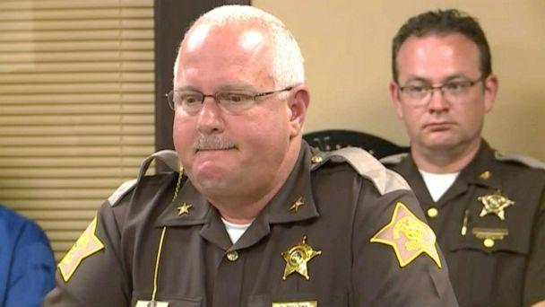 PHOTO: Perry County Sheriff Alan Malone speaks at a news conference after an 11-year-old Girl Scout was killed by a falling tree in Indiana. (WHAS-TV)