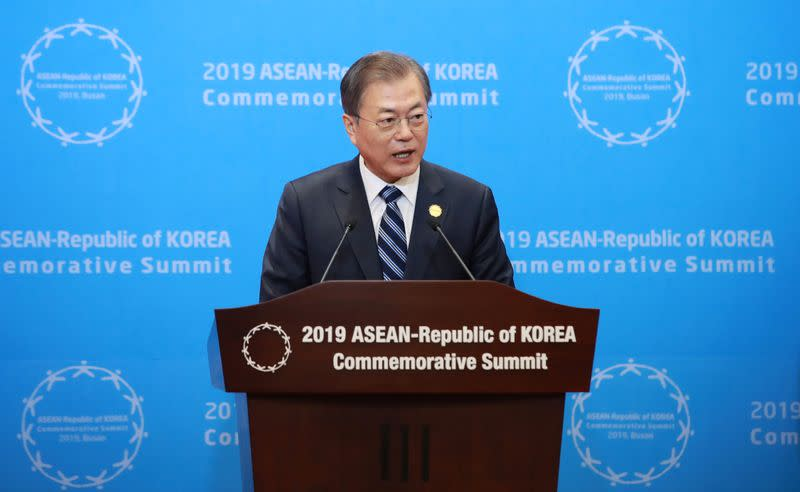 South Korea's Moon says stalled talks with U.S. not good for North Korea