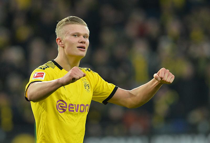 Erling Haaland scored two more goals for Borussia Dortmund on Saturday. (Photo by TF-Images/Getty Images)