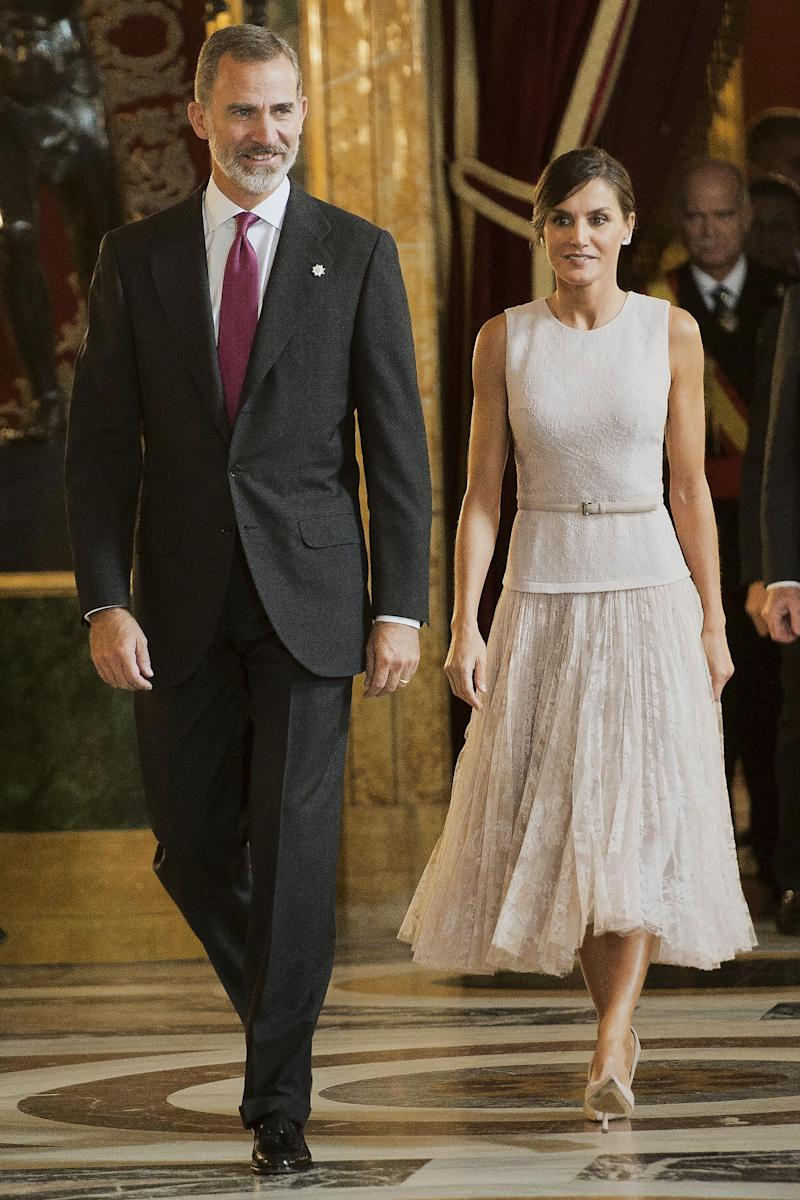 With her husband, King Felipe VI of Spain (Getty Images)