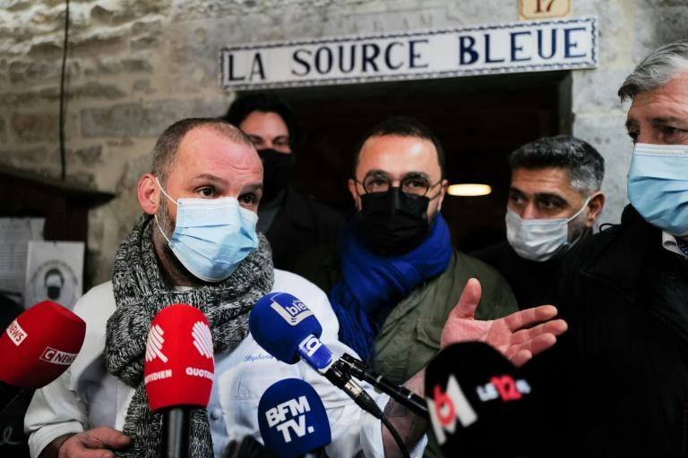 """French chef Stephane Turillon said he opened his restaurant in Cusance, eastern France, on Monday in an act of """"civil disobedience."""""""