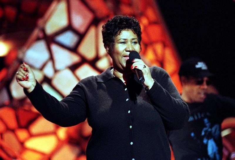 Aretha Franklin died at home on Thursday (EPA)