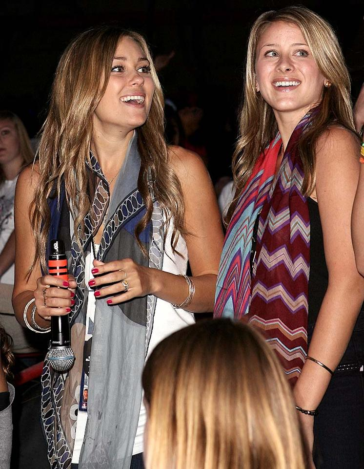 """""""Hills"""" hotties Lauren Conrad and Lo Bosworth took time out of their busy filming schedule to attend the star-studded spectacular. One question ... where was their supposed BFF, Audrina? Jason Merritt/<a href=""""http://www.filmmagic.com/"""" target=""""new"""">FilmMagic.com</a> - May 10, 2008"""