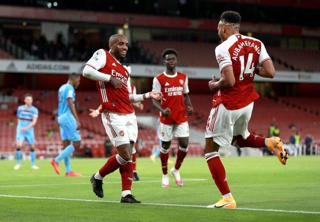 Arsenal's Alexandre Lacazette (left) and Pierre-Emerick Aubameyang both missed the Brentford game.