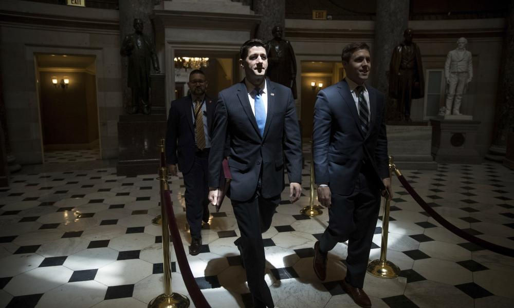 "<span class=""element-image__caption"">'If Republican lawmakers want to distinguish themselves from Trump's comments, they need to do more than type out 144 characters on their phone.'</span> <span class=""element-image__credit"">Photograph: Andrew Harnik/AP</span>"