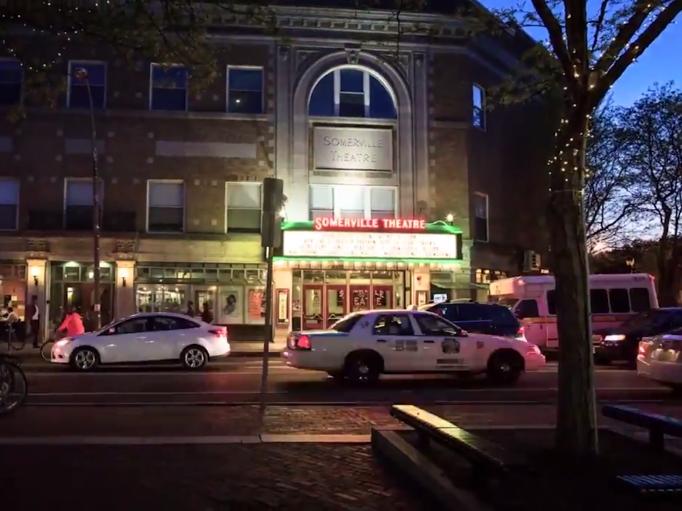 Somerville, Massachusetts at night: (Cambridge and Somerville MA - Charles Cherney - YouTube)