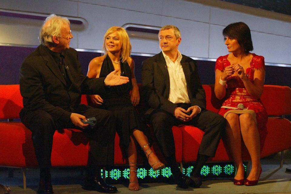 Judges Pete Waterman, Geri Horner and Louis Walsh with presenter Davina McCall during Popstars: The Rivals (PA)