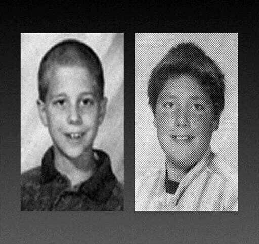 Andrew Golden (left) and Mitchell Johnson are seen as students at Jonesboro Westside Middle School. In 1998, they carried out a mass shooting at the school that left five people dead. (Photo: ASSOCIATED PRESS)