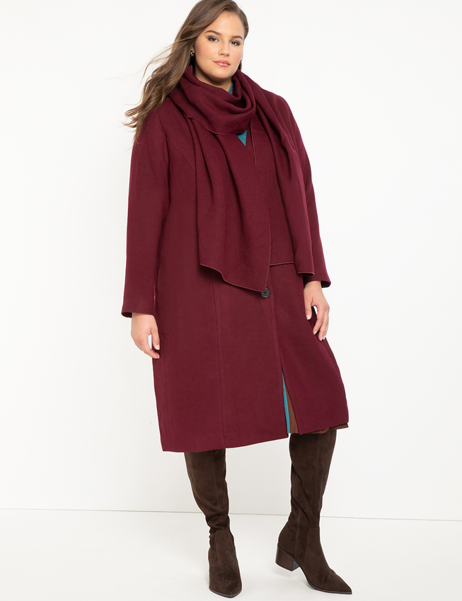 "<br><br><strong>Eloquii</strong> Coat With Scarf, $, available at <a href=""https://go.skimresources.com/?id=30283X879131&url=https%3A%2F%2Fwww.eloquii.com%2Fcoat-with-scarf%2F1258089.html"" rel=""nofollow noopener"" target=""_blank"" data-ylk=""slk:Eloquii"" class=""link rapid-noclick-resp"">Eloquii</a>"