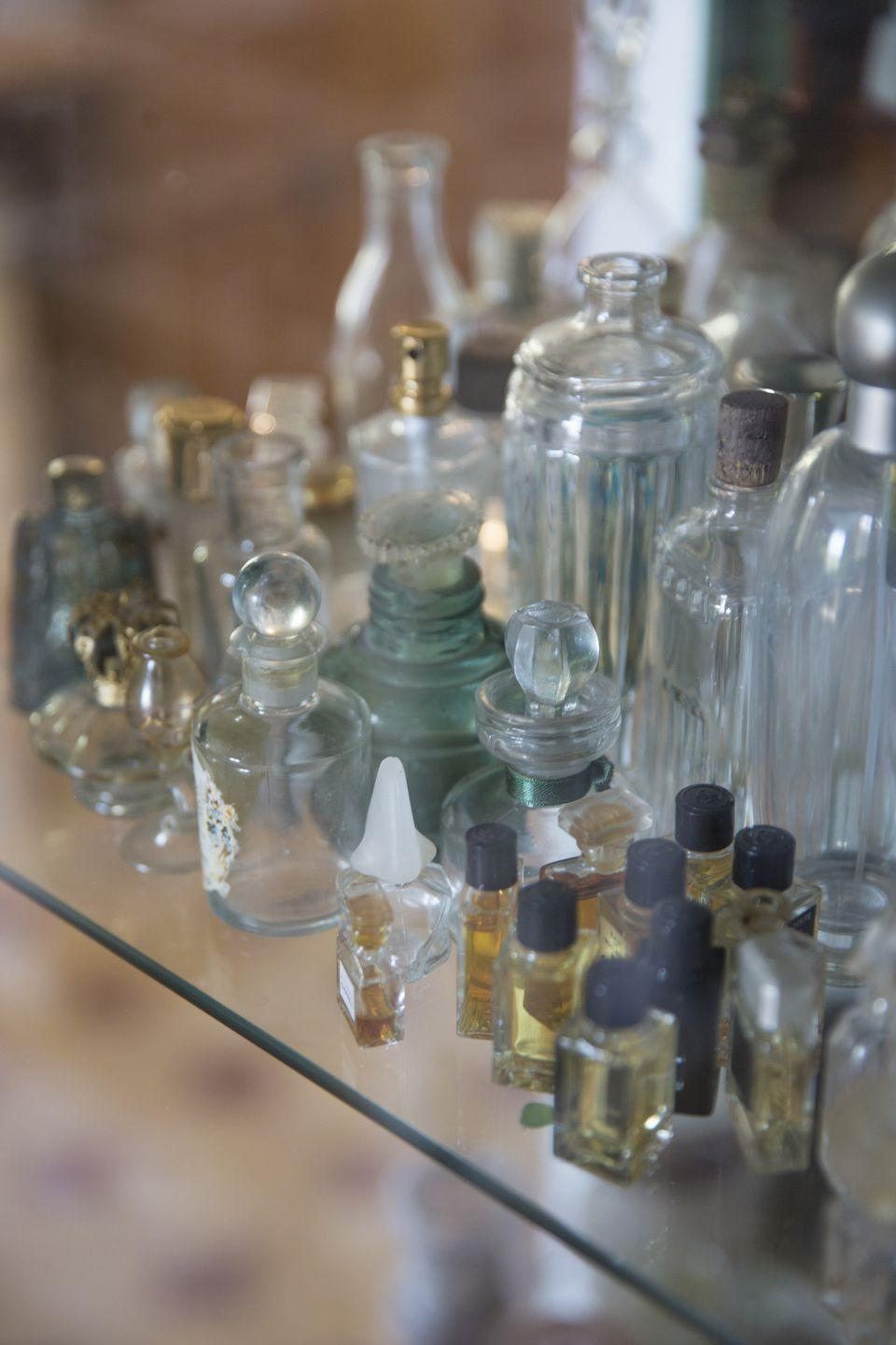"<p>There are entire auctions dedicated to these prized pieces of glass. When browsing garage sales, look out for those in mint condition, with their original packaging—and the older, the better. One of the more collectible examples, Lalique 's ""Les Sirenes"" Flacon Collection Perfume bottle, is <a href=""https://worthly.com/most-expensive/perfume-bottles-worth-collecting/"" rel=""nofollow noopener"" target=""_blank"" data-ylk=""slk:worth up to $500."" class=""link rapid-noclick-resp"">worth up to $500.</a></p>"