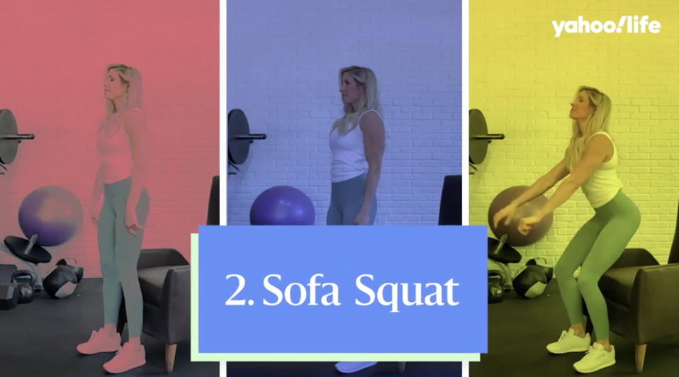Perfect your squat with this move. (Photo: Yahoo Life)