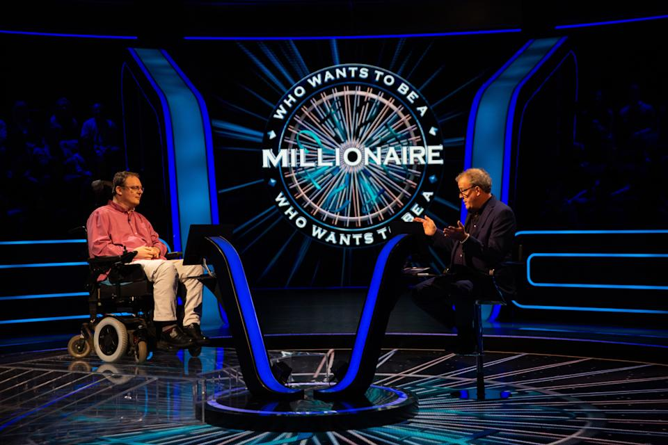 Andrew Townsley reached the jackpot question on 'Who Wants To Be A Millionaire?' (Stellify Media/ITV)
