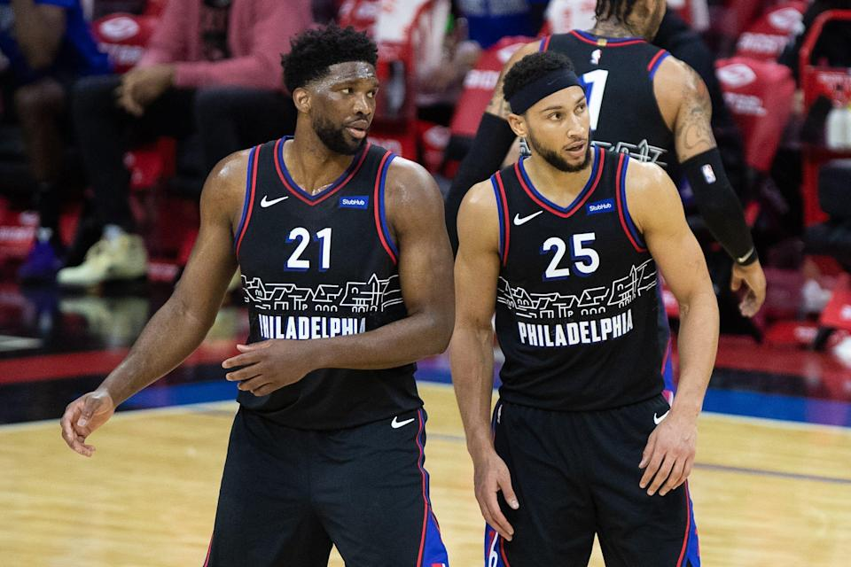 The 76ers are negotiating with Ben Simmons (25) and his camp to return to the team as they work on a trade, even though there may be some friction with teammates like Joel Embiid (21).