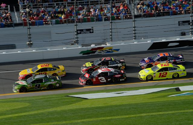 "<a class=""link rapid-noclick-resp"" href=""/nascar/sprint/drivers/3311/"" data-ylk=""slk:Chase Elliott"">Chase Elliott</a> is in the No. 9 car while <a class=""link rapid-noclick-resp"" href=""/nascar/nationwide/drivers/3085"" data-ylk=""slk:Ryan Blaney"">Ryan Blaney</a> drives the No. 12 instead of No. 21 in 2018. (Getty)"