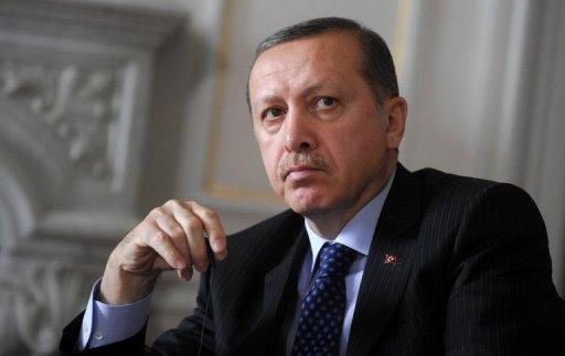 <p>Turkish Prime Minister Recep Tayyip Erdogan in the Black Sea port of Varna on May 18. Some 300 women are to protest to the Turkish government Tuesday after Erdogan sparked fury among women's rights advocates by likening abortion to murder.</p>