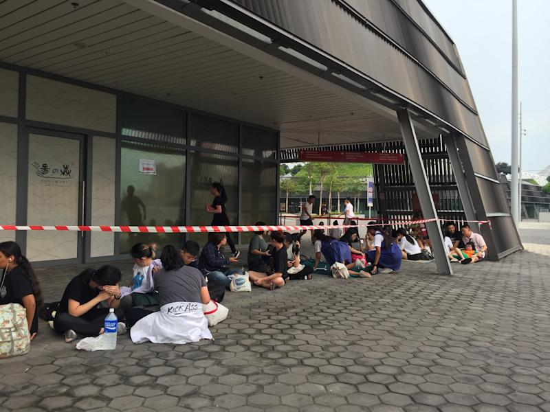Hundreds queue for BTS concert tickets a day before sales