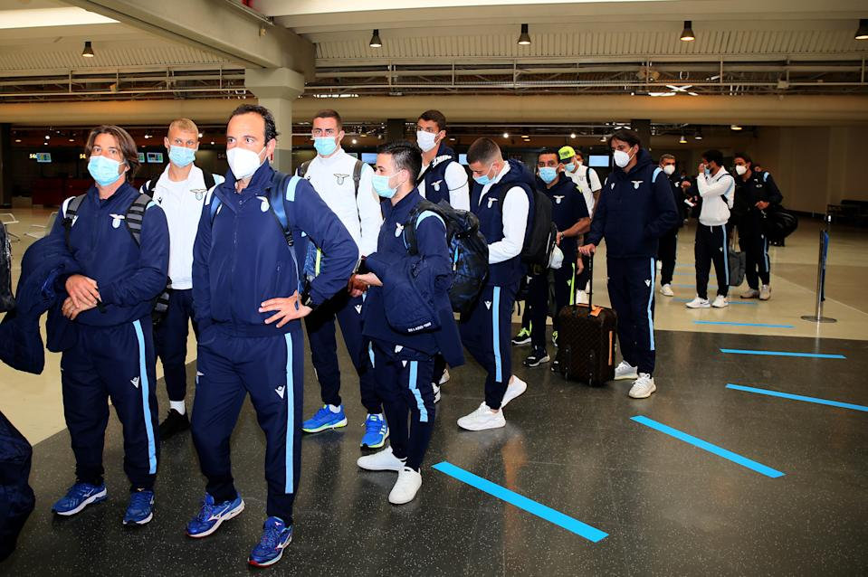Lazio's entire squad has been forced into quarantine after several players tested positive for COVID-19. (Giampiero Sposito/Getty Images)