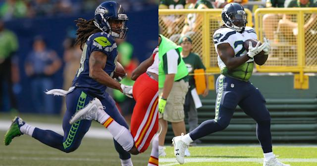 J.D. McKissic (left) and Eddie Lacy (right) are not the same person. (Getty)