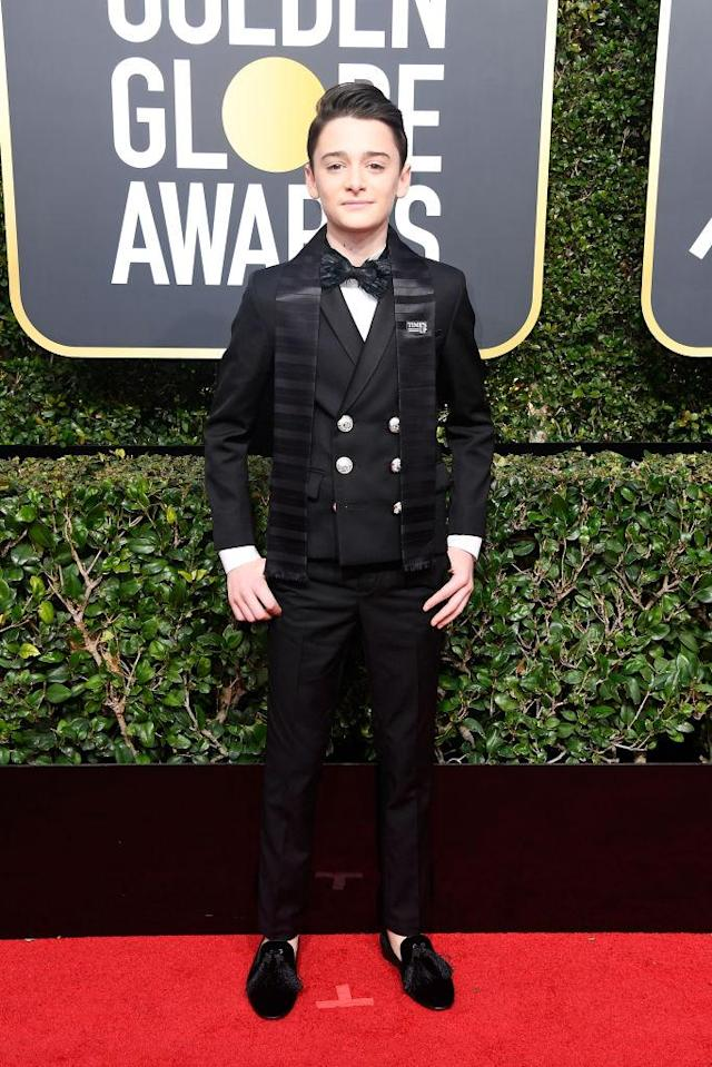 <p>The<em> Stranger Things</em> actor attends the 75th Annual Golden Globe Awards at the Beverly Hilton Hotel in Beverly Hills, Calif., on Jan. 7, 2018. (Photo: Frazer Harrison/Getty Images) </p>