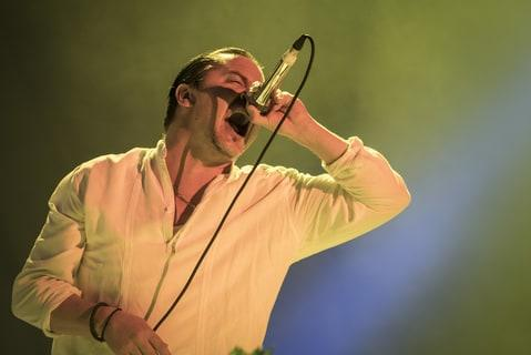 Mike Patton from Faith No More performs at 2015 Rock in Rio on September 25, 2015 in Rio de Janeiro, Brazil.
