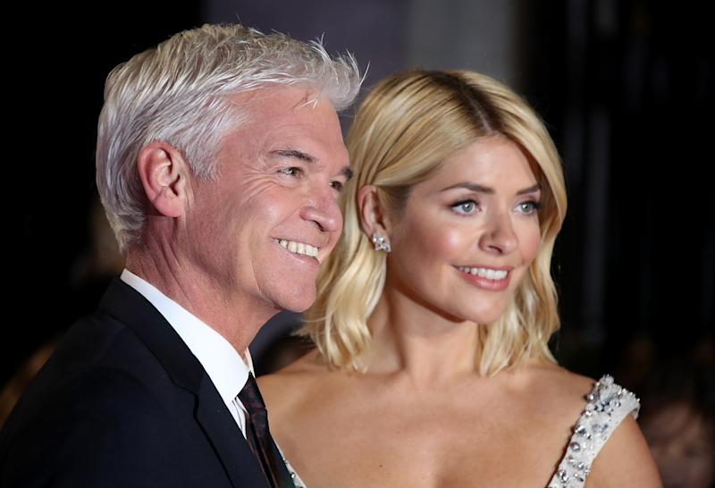 LONDON, ENGLAND - OCTOBER 29: Phillip Schofield and Holly Willoughby attend the Pride of Britain Awards 2018 at The Grosvenor House Hotel on October 29, 2018 in London, England. (Photo by Mike Marsland/Mike Marsland/WireImage)