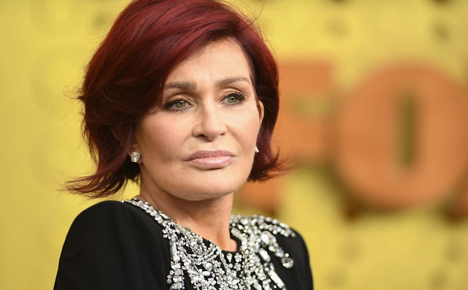 British personality Sharon Osbourne arrives for the 71st Emmy Awards at the Microsoft Theatre in Los Angeles on September 22, 2019. (Photo by VALERIE MACON / AFP)        (Photo credit should read VALERIE MACON/AFP/Getty Images)