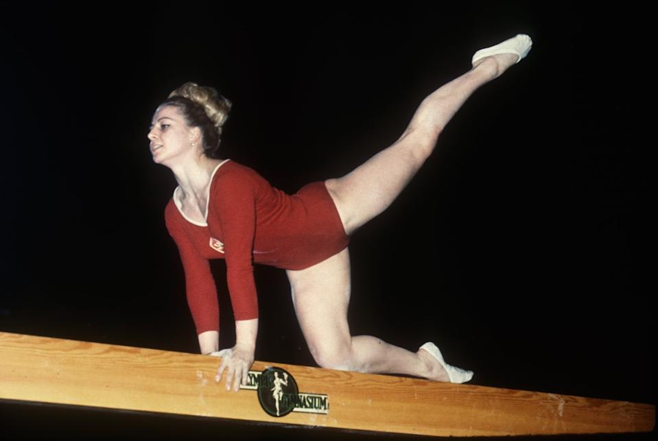 Vera Cavalavska (CZE), winner of 5 gold medals at the 1968 Olympics, pictured in 1964. Mandatory Credit: Allsport USA/ALLSPORT