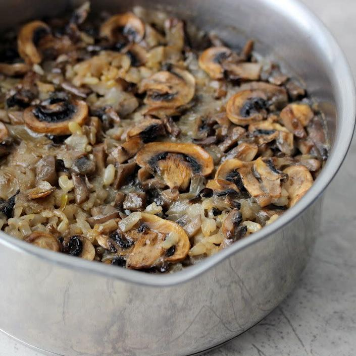 "<strong>Get the <a href=""http://www.savynaturalista.com/2014/01/28/mushroom-rice-pilaf/"" rel=""nofollow noopener"" target=""_blank"" data-ylk=""slk:Mushroom Rice Pilaf recipe"" class=""link rapid-noclick-resp"">Mushroom Rice Pilaf recipe</a> from Savvy Naturalista</strong>"