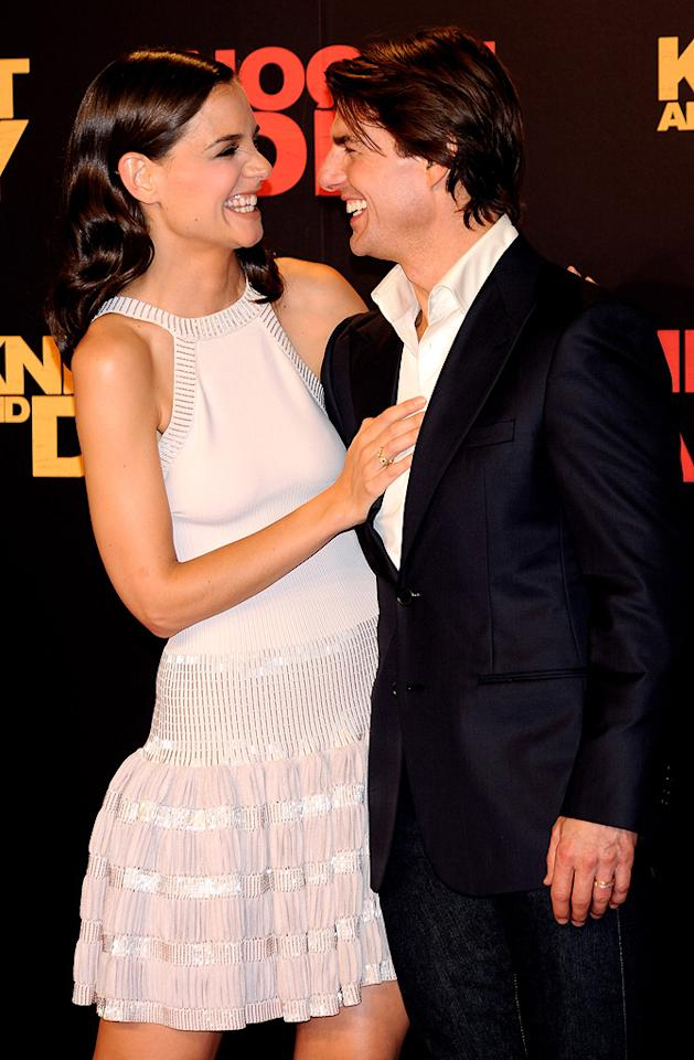 "<a href=""http://movies.yahoo.com/movie/contributor/1800018992"">Katie Holmes</a> and <a href=""http://movies.yahoo.com/movie/contributor/1800015725"">Tom Cruise</a> at the Spanish premiere of <a href=""http://movies.yahoo.com/movie/1810115368/info"">Knight and Day</a> - 06/16/2010"