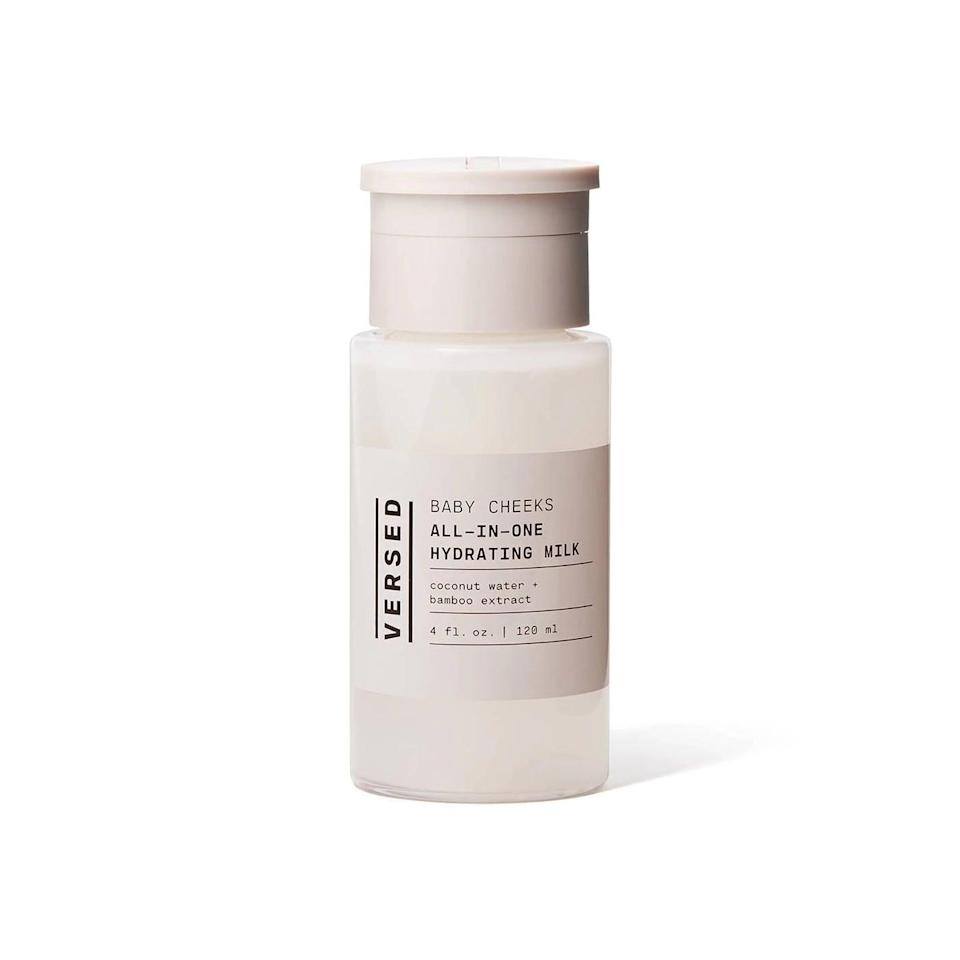 <p>Got milk? No, but really: does your skin have all the nutrients and hydration it needs? If you've tried the <span>Versed Baby Cheeks All in One Hydrating Milk</span> ($18) - which has all the above, thanks to bamboo extract and coconut water - it does.</p>