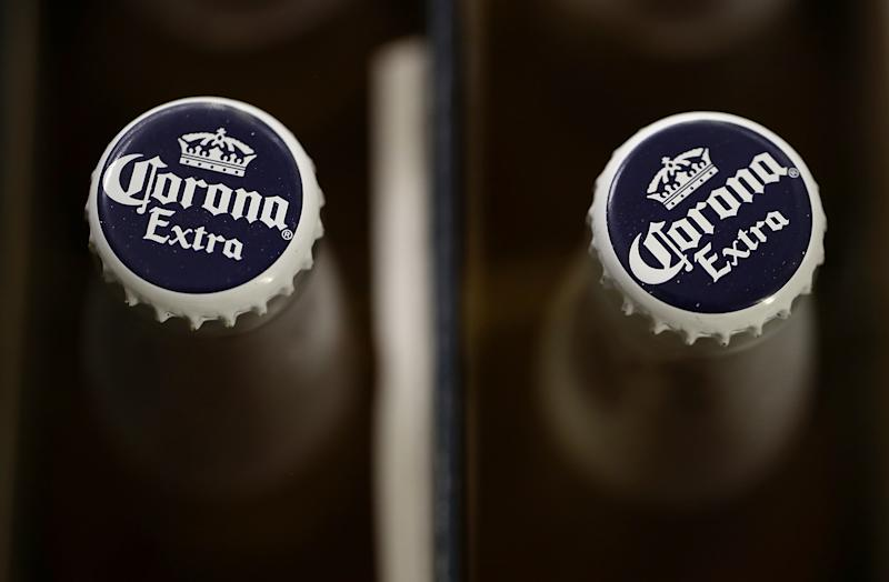 SAN RAFAEL, CA - JUNE 29: Bottles of Corona are displayed in a cooler at Marin Beverage Outlet on June 29, 2018 in San Rafael, California. Shares of Constellation Brands fell 5 percent in Friday trading after reporting lower than expected first-quarter earnings. (Photo by Justin Sullivan/Getty Images)
