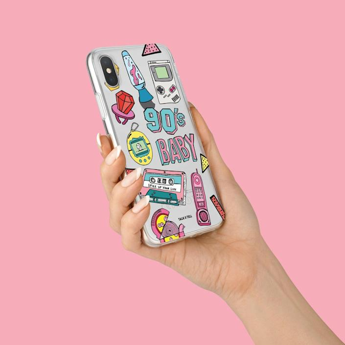 <p>This <span>TalkAndTell '90s Baby iPhone Case</span> ($14) is a playful blast from the past.</p>