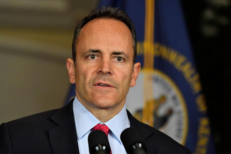 Kentucky Gov. Matt Bevin announces his intent to call for a recanvass of the results from Tuesday's gubernatorial elections on Nov. 6, 2019.  (Photo: AP Photo/Timothy D. Easley)