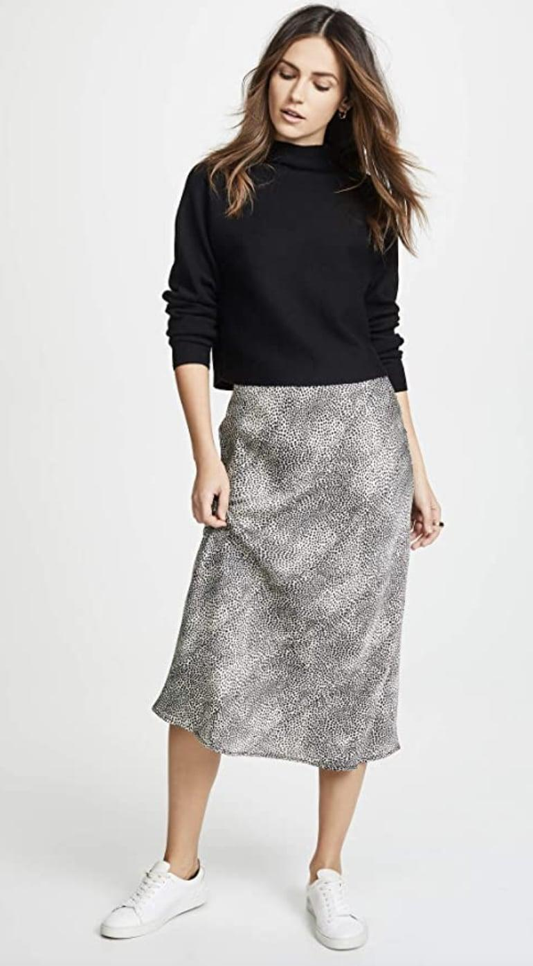 <p>This <span>Re:named Leopard Midi Skirt</span> ($50) is extremely wearable, affordable and chic. Dress it down with a loose tank top and some slides, or up with a fitted square-neck top and kitten heels.</p>