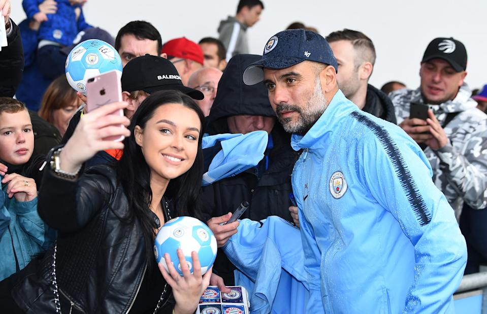 """The Amazon series """"All or Nothing"""" on Pep Guardiola and Manchester City is interesting but ultimately unfulfilling, indicative of soccer's recessive trend into content control. (Getty)"""