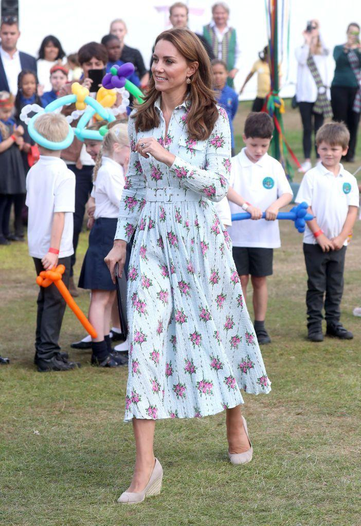 "<p>Kate donned espadrilles once again at the opening of her ""Back to Nature"" garden at another Royal Horticultural Society garden show in the summer of 2019, this time at Wisley.<br></p>"
