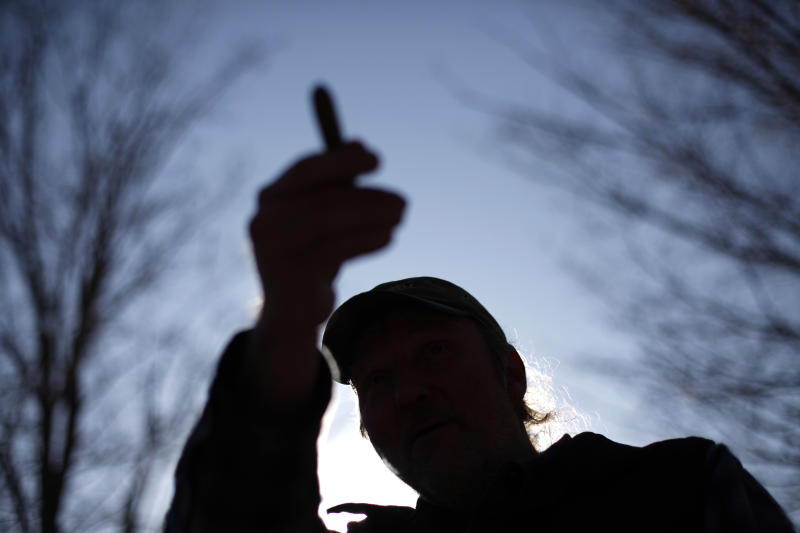 In a Monday, Feb. 13, 2012 photo, Ray Kemble gestures during an interview with the Associated Press in Dimock, Pa. The U.S. Environmental Protection Agency appears to be ramping up its interest in the Marcellus Shale a rock formation in Pennsylvania and surrounding states that is believed to hold the nation's largest reservoir of gas with investigations in both the northeastern and southwestern corners of Pennsylvania. The drilling industry accuses EPA of overreach. (AP Photo/Matt Rourke)