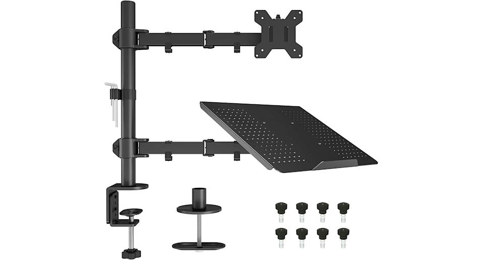 BONTEC Monitor mount with laptop tray