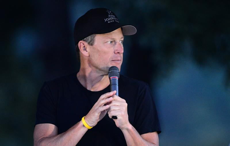 Lance Armstrong speaks at the begining of the annual Team Livestrong Challenge in Austin, Texas on October 21, 2012