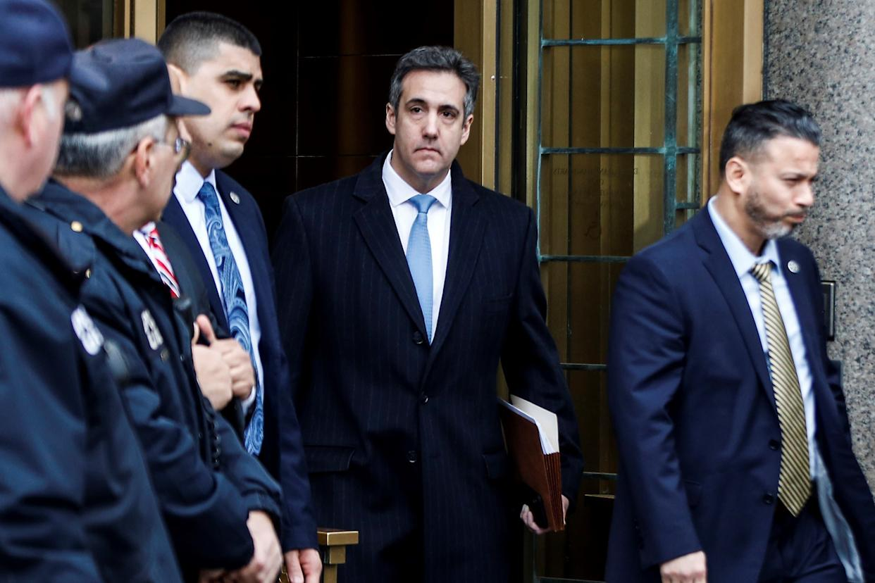 Michael Cohen leaves court after his sentencing on Dec. 12, 2018. He will spend three years in prison. (Photo: Anadolu Agency via Getty Images)