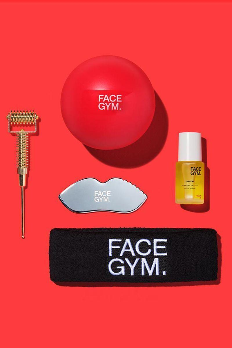"<p><strong>Essential Online Workout Kit</strong></p><p>facegym.com</p><p><strong>$150.00</strong></p><p><a href=""https://usa.facegym.com/products/essential-online-workout-kit?variant=33198557659189"" rel=""nofollow noopener"" target=""_blank"" data-ylk=""slk:Shop Now"" class=""link rapid-noclick-resp"">Shop Now</a></p><p>Take 30% off radio frequency workouts and most FaceGym Kits are 25% off.</p>"