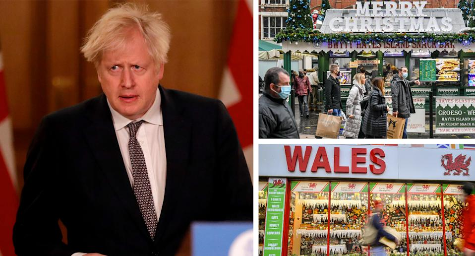 The Welsh government has defied Boris Johnson by creating its own Christmas law limiting gatherings to two households.