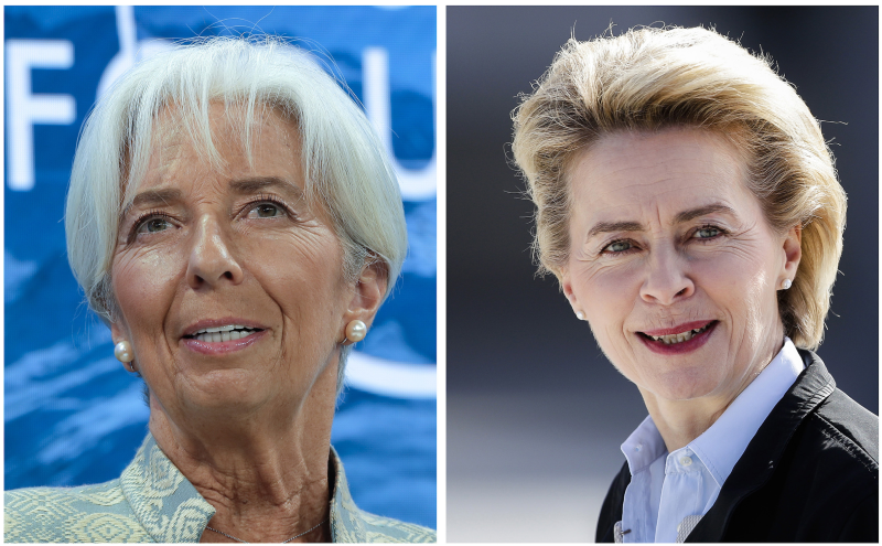 Christine Lagarde, left, and Ursula von der Leyen, right, will be the first women to take their respective roles in European Union leadership. Photo: Associated Press